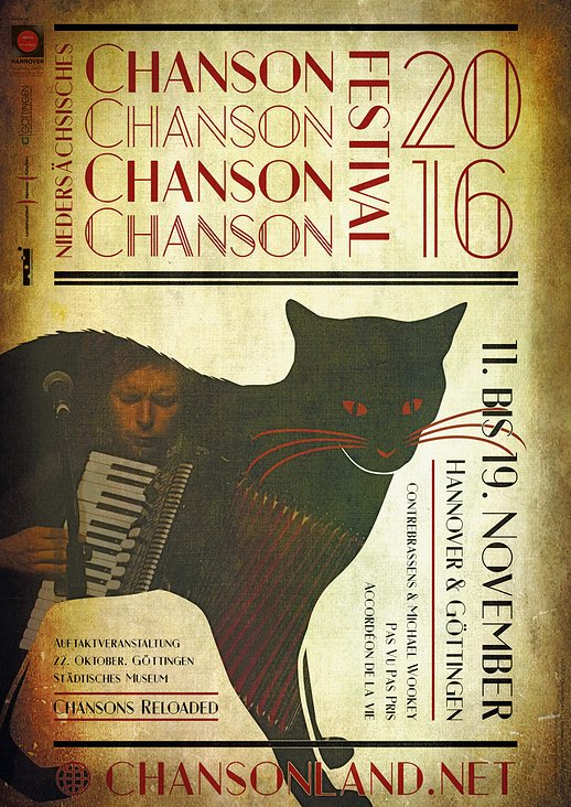 Chansonland Festival-Poster – Konzeption, Grafik, Layout