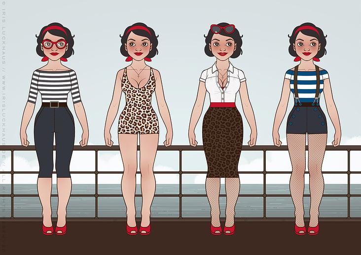Character Design und Styling für Mimi Fiedler