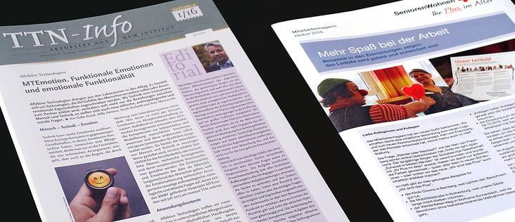 Newsletter Institut TTN u. SeniorenWohnen BRK