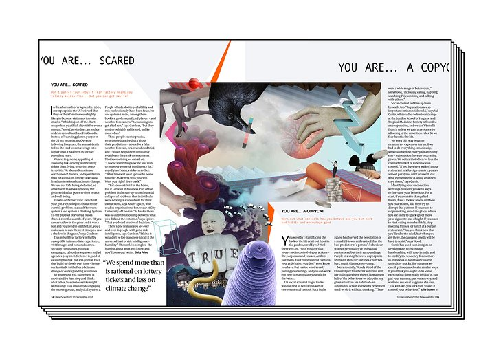 YOU ARE AMAZING / page 3, artwork series for New Scientist mag (GB)