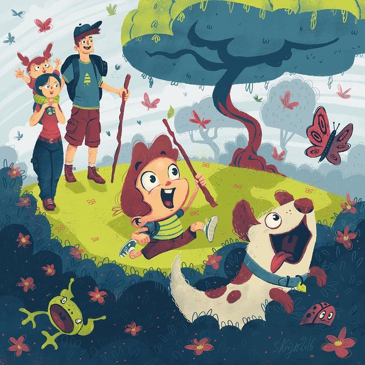 Wandertour mit Kind und Kegel