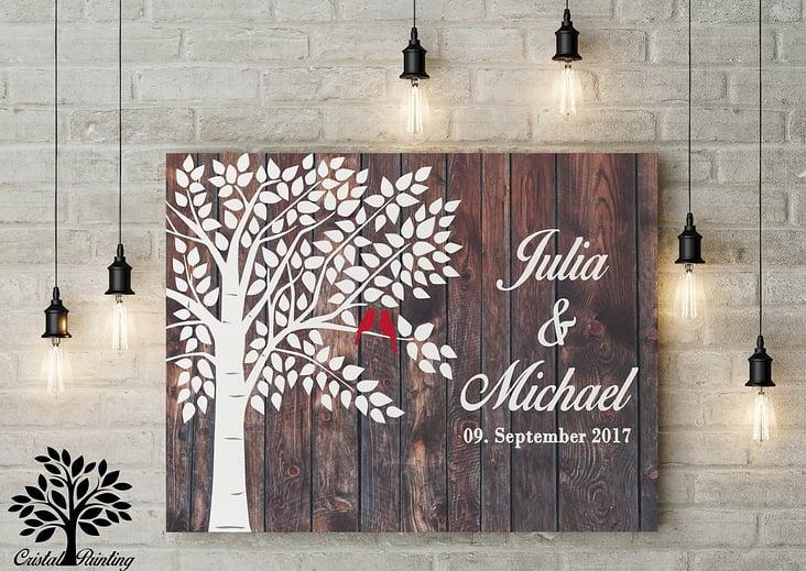 Wedding Tree Hochzeitsbaum Gastebuch Design Von Aniko