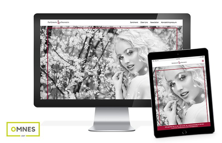 Parfümerie Liechtenstein – Website-Gestaltung