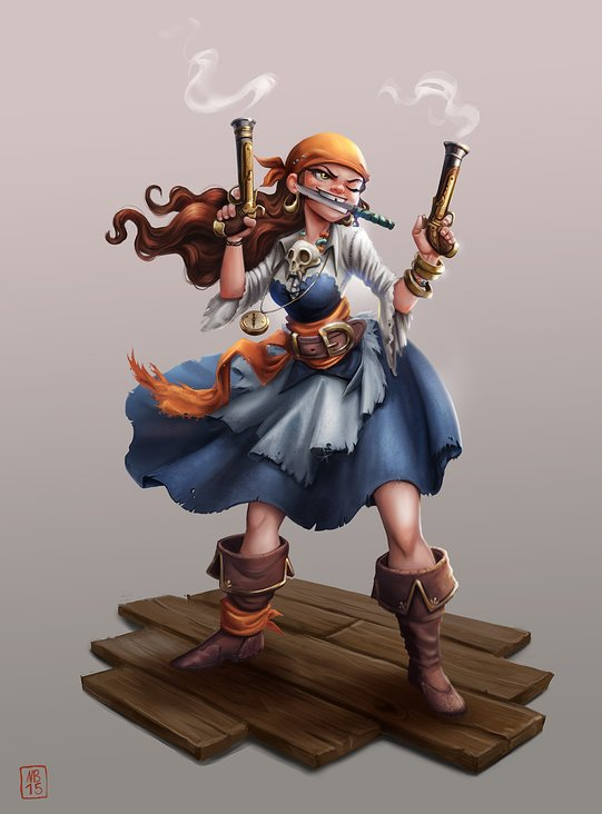Pirate girl Character Design