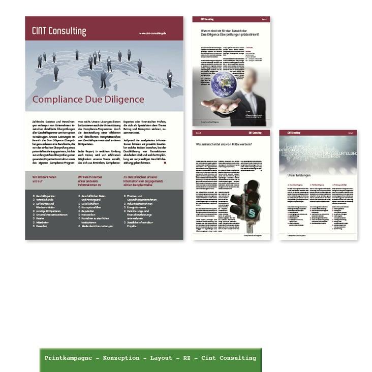 Cint Consulting Geschäftsdrucksachen Layout