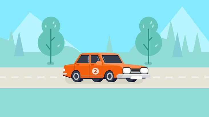 Auto auf Autobahn