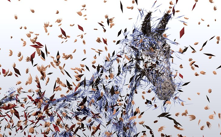 Horse and particles II