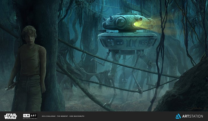 Probe Droid on Dagobah
