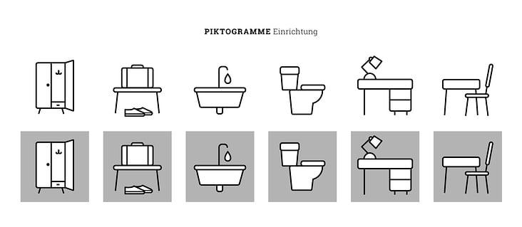 Piktogramme Einrichtung