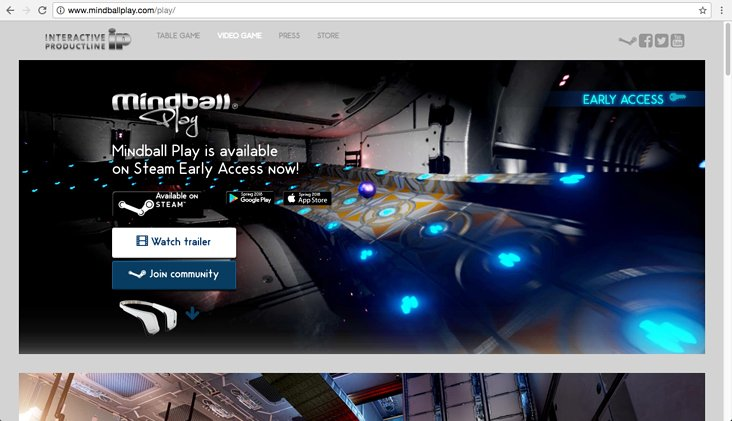 Mindball Play Game Website design and development