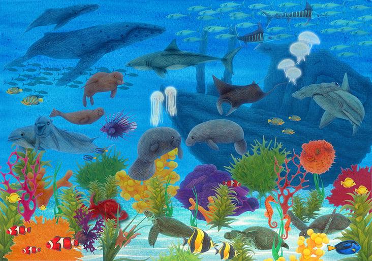 Wimmelbild Ozean