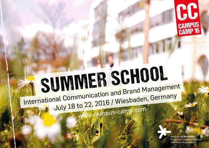 Plakat für die Summer School der HSRM