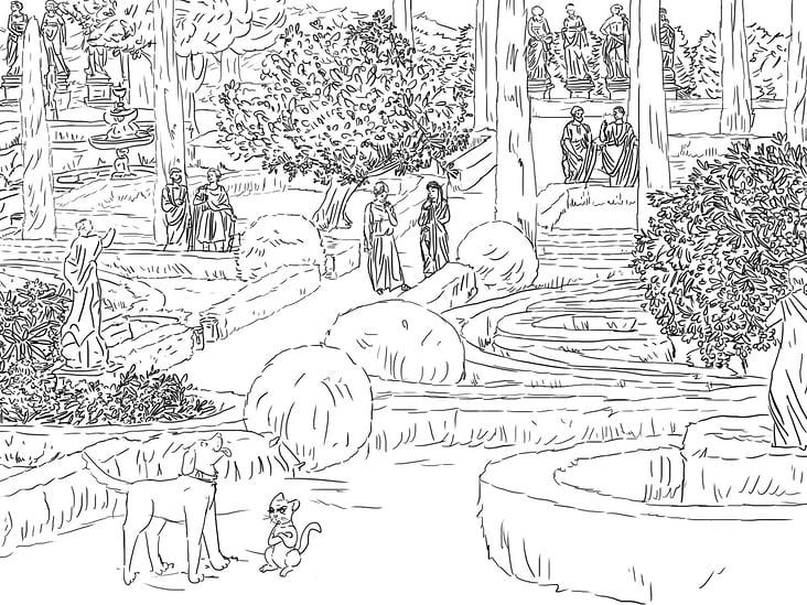 Storyboard Lucky & Luna im alten Rom
