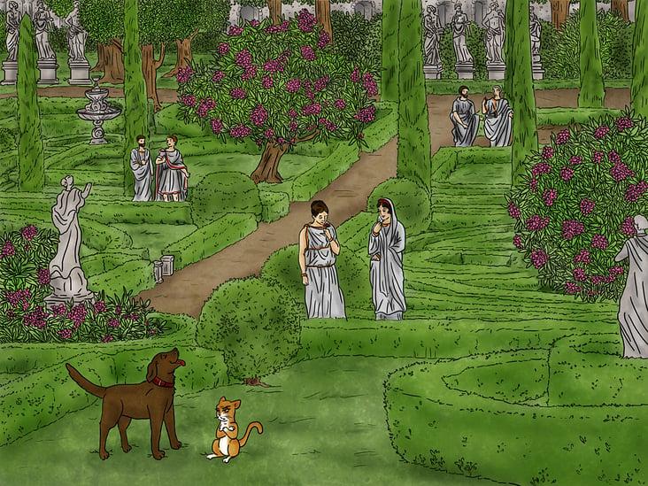 Finale Illustration Lucky & Luna im alten Rom
