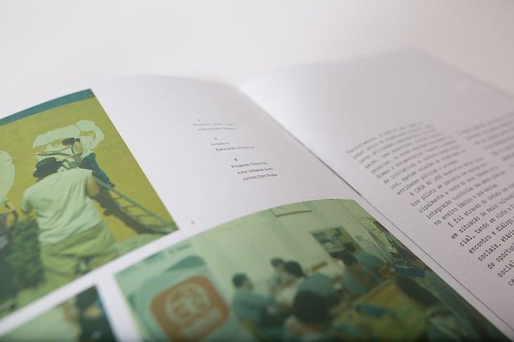 Broschüre, Layout und Textsatz