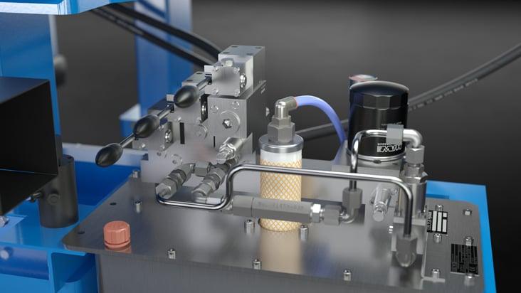 Plateshifter-Maschinenvisualisierung für Andritz