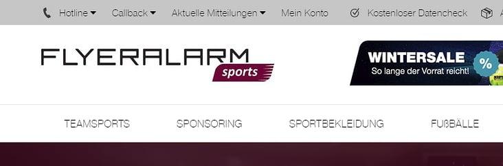 FLYERALARM sports Onlineshop