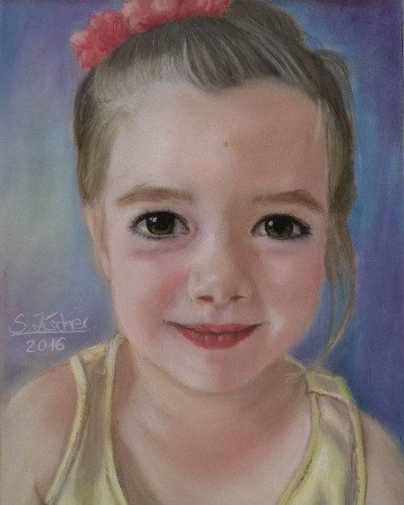 Kinderportrait in Pastell