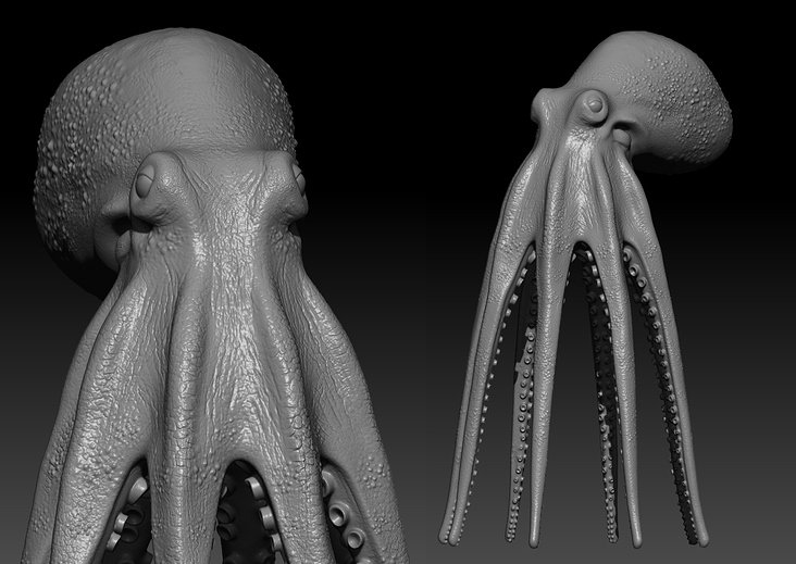 Z-brush sculpting