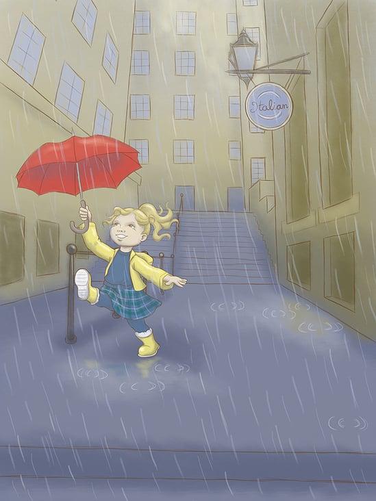 Regen in Edinburgh
