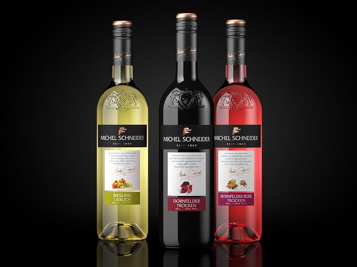 3D Visualisierung: fotorealistische Renderings von Weinflaschen