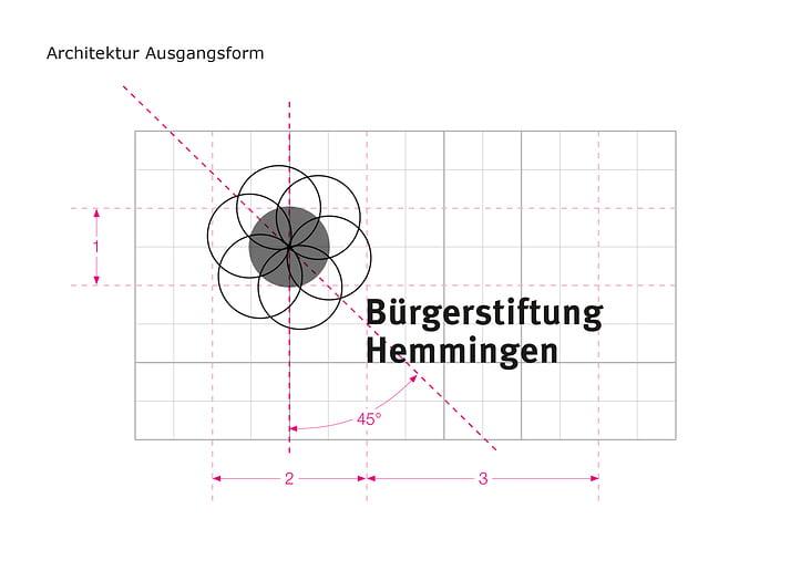 Konstruktion der Logo Grundform