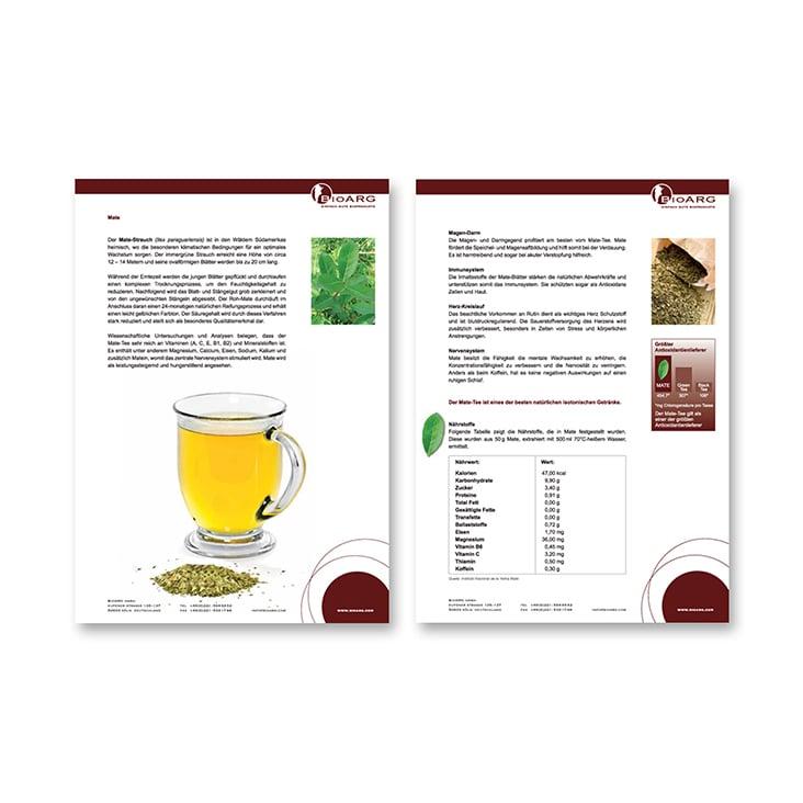Produktblätter BioARG