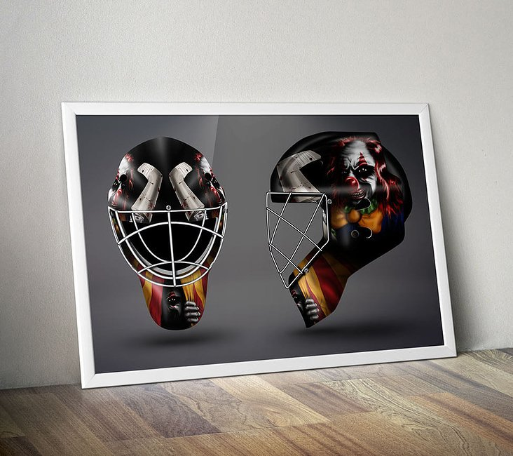 Goalie Mask digital Illustration