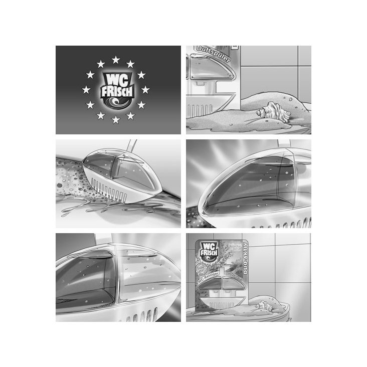 "Storyboard-Illustration ""WC-Frisch"""