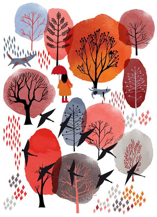 Autumn landscape  poster
