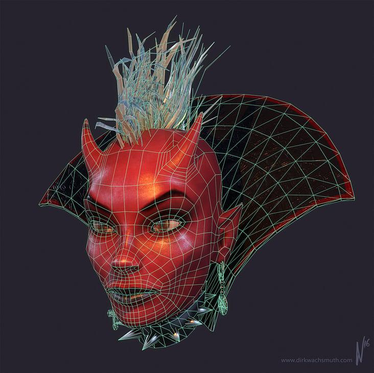 Devil Girl– Wireframe (Client: Mybrana Network, SL)