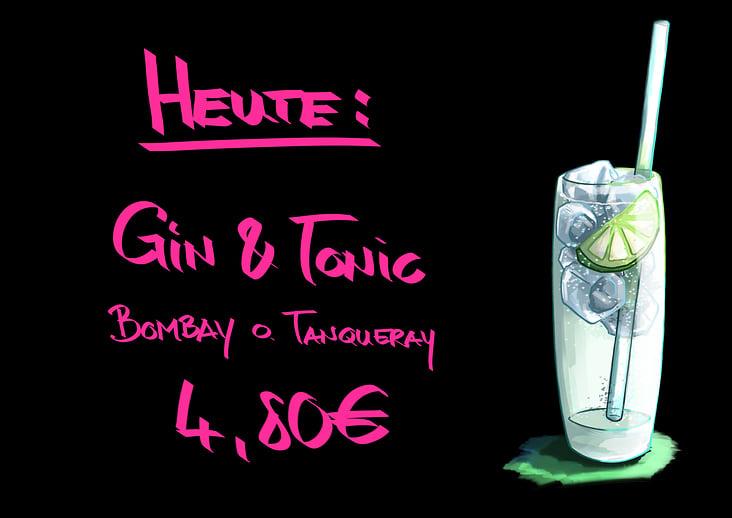 Illustration Tagesgetränk– Gin & Tonic