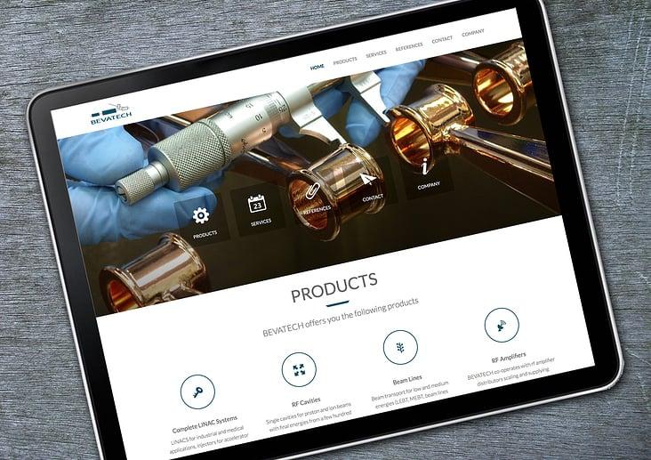 Website im neuen Design für die Bevatech GmbH