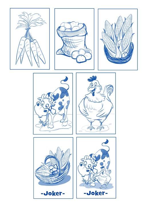 Das grosse Bauernhofspiel– Spielkarten (Skizzen)