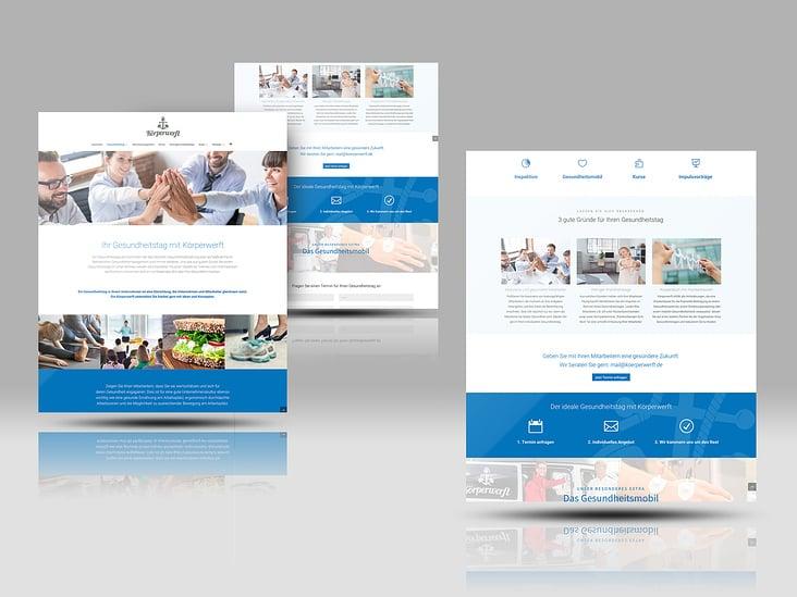 Website Gesundheitstag