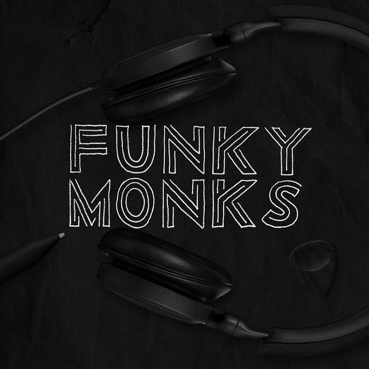 funky monks christoph gey illustration