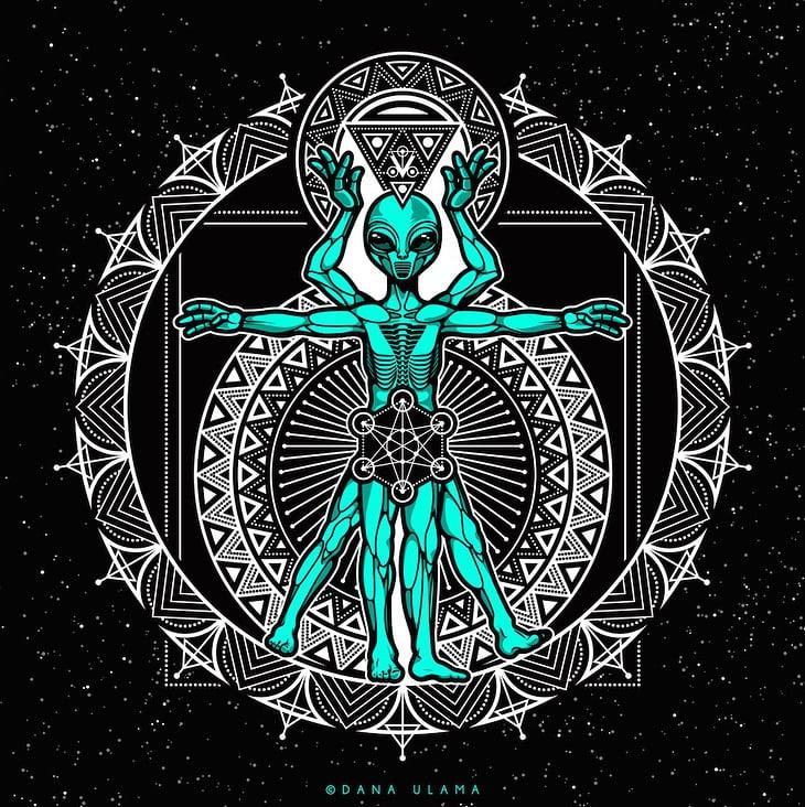 Vitruvian Alien