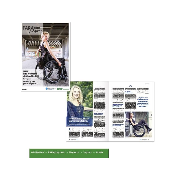 PARAplegiker– Magazin– gestalterische Umsetzung Layout