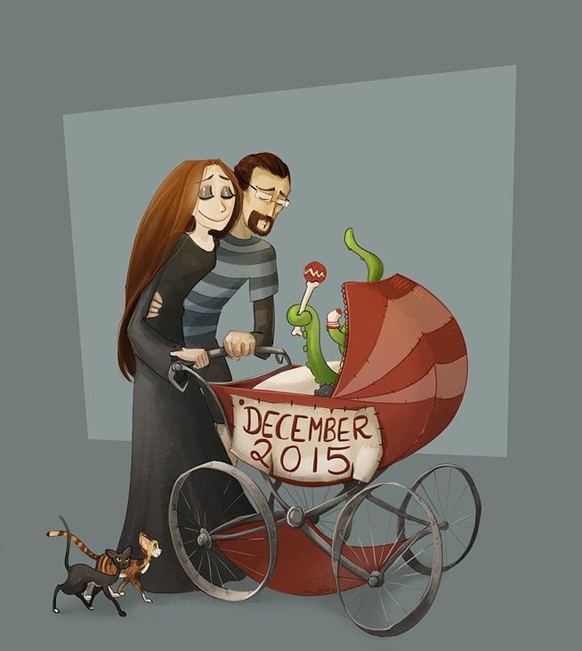 Privat, Babyankündigung