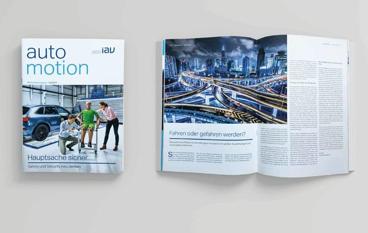 IAV GmbH – Kundenmagazin automotion (Erscheinungsweise: 3 x im Jahr, de und en)