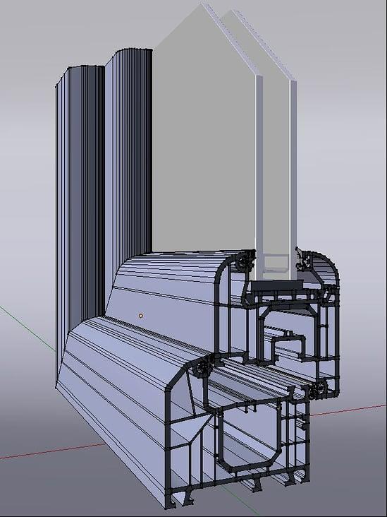 3D Fenster Modeling Gitternetz