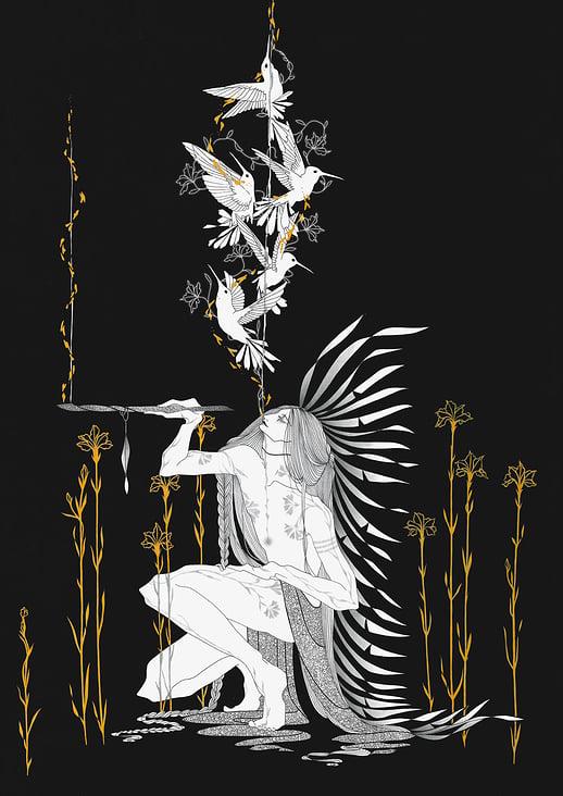 Great spirit (illustration / graphic / digital)