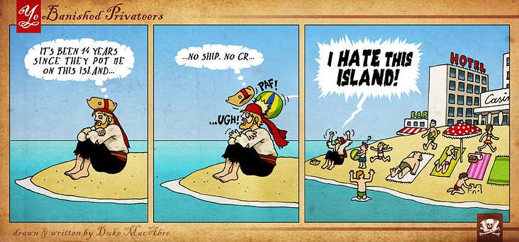 YBP Comic Strip No. 18 (Marooned)