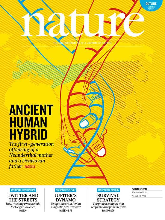 Nature Cover Illustration veröffentlicht am 6. September 2018