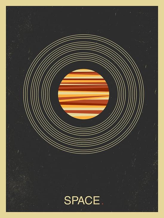 Space– Minimal Illustration