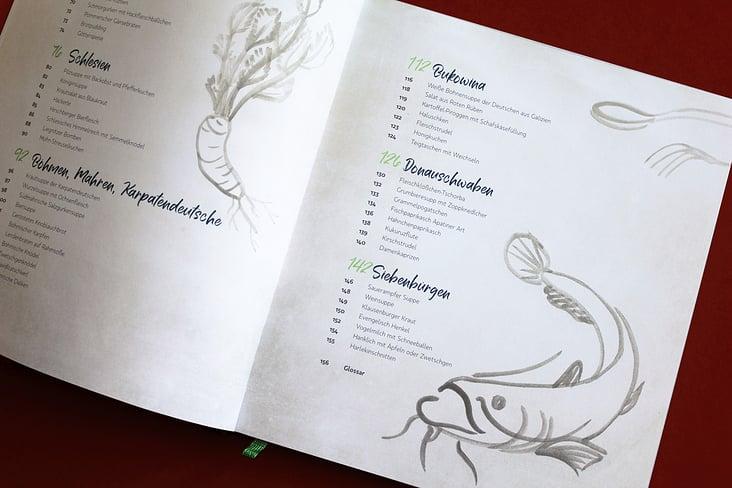 Inhaltsverzeichnis Doppelseite