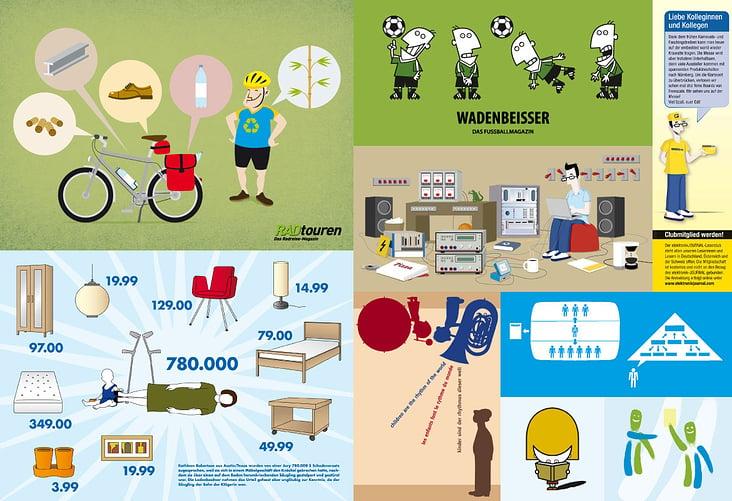 Illustrationen & Character-Designs / Kunden: diverse