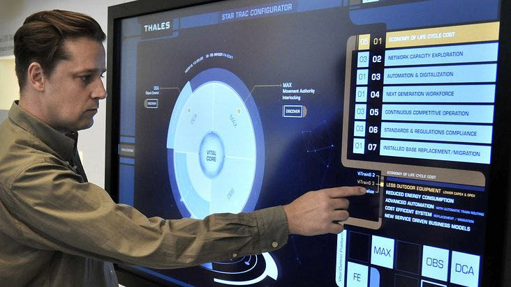 """Star Trac"" interface in action – Showcase at the Thales booth at Innotrans in Berlin"