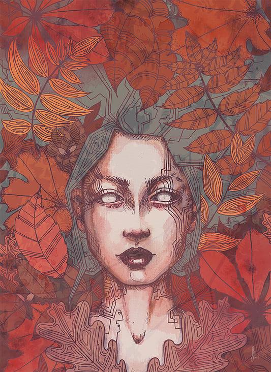 """Portrait """"autumnleaf"""" aus der Bilderreihe """"seasons"""""""