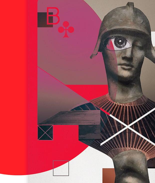 digital collage mixed media illustration